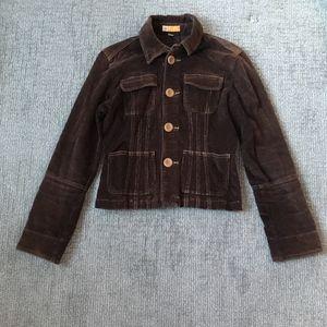 Tulle Anthropologie Brown Corduroy Jacket M